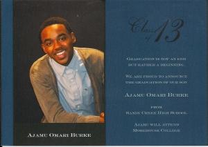 Ajamus Graduation Announcement