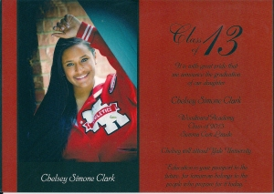 Chelsey Simone Clark's Graduation Announcement